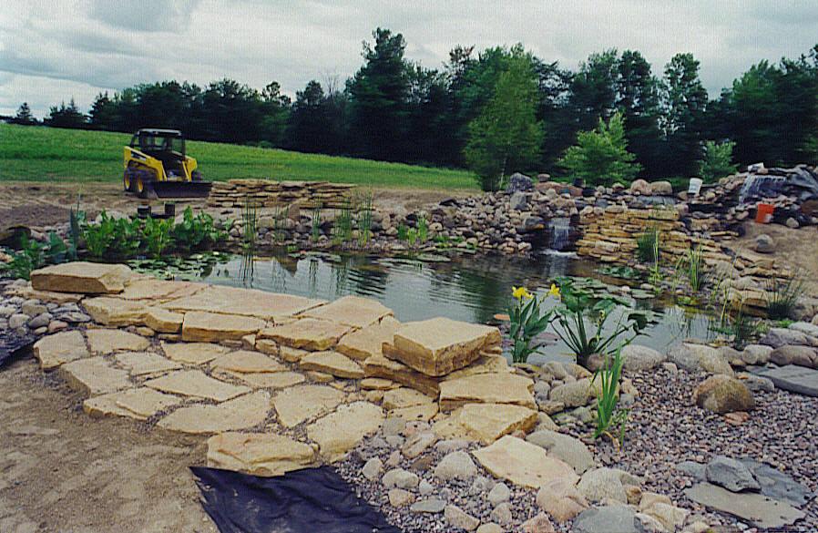 Landscaping Rock Eau Claire : Garden pond construction wiltrout nursery chippewa falls